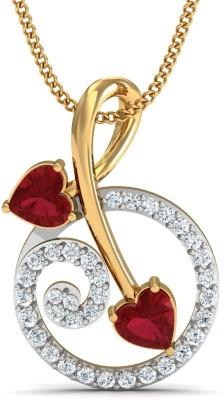 Damor The Ecstatic 14kt Diamond, Ruby Yellow Gold Pendant