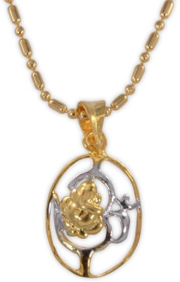 Twisha Twisha New Ganesha Pendent Yellow Gold Cubic Zirconia Alloy