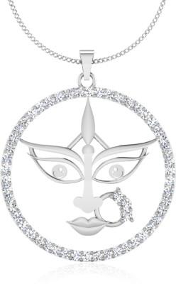 IskiUski Abhavya 14kt Diamond White Gold Pendant(Platinum Plated) at flipkart