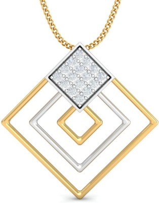 Zomint Four Square Diamond Yellow Gold Pendant