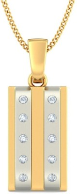 BlueStone The Gallant Symbol 14kt Diamond Yellow Gold Pendant