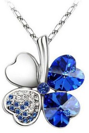 Cinderella Fashion Jewelry Clover Crystal Pendant