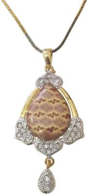 GJ Creations Rhodium Brass Pendant