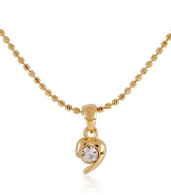Estella Fashion 6116 Nk Smp Bg White Gold Crystal Alloy Pendant