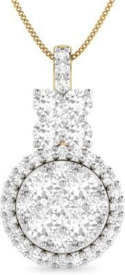 WearYourShine by PC Jewellers The Naamagal 18kt Diamond Yellow Gold Pendant at flipkart