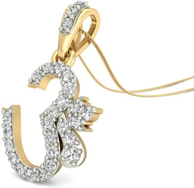 WearYourShine by PCJ The Omkara Diamond 18kt Diamond Yellow Gold Pendant