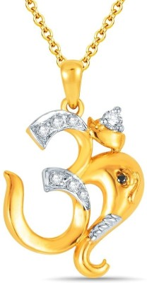 Bright Fashion Divya Collection Yellow Gold Sterling Silver Pendant