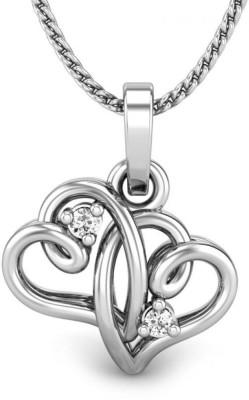 Candere Priyam Diamond Sterling Silver Pendant