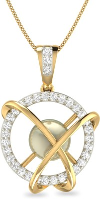 WearYourShine by PC Jewellers PC Jeweller The Glionne 18kt Diamond Yellow Gold Pendant at flipkart