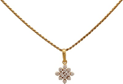 Zayah The Lozenge 18K Yellow Gold Diamond Gold Pendant
