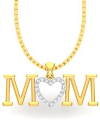 Kuhuk- Precious 18K Yellow Gold Cubic Zirconia Silver Pendant