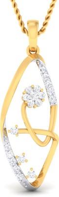Damor Startling 14kt Diamond Yellow Gold Pendant