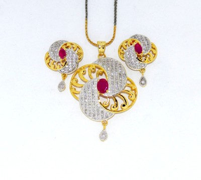 Opal Touch Ad Pendent Set Alloy, Stone