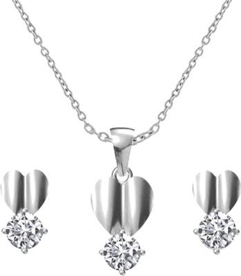 Twisha Fashion Jewellery Rhodium Cubic Zirconia Alloy