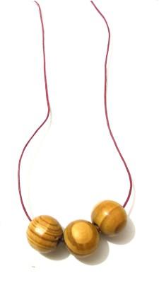 Bohocraft Bohemian Wooden Beads Adjustable Wood Pendant