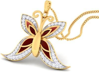 Amantran Jewels Quintessential Sterling Silver Diamond Gold Pendant