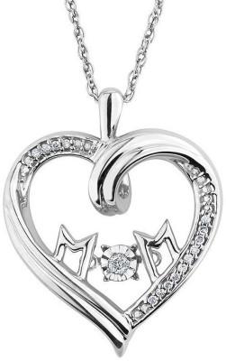 Facetzinspire Real Platinum Diamond Silver Pendant available at Flipkart for Rs.5740