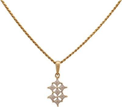 Zayah The Kite Cluster 18K Yellow Gold Diamond Gold Pendant