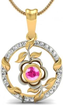 Rasav Jewels Creative Designs 18kt Diamond, Tourmaline Yellow Gold Pendant