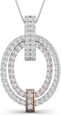 Zomint Twin Circle Fortuna Diamond White Gold Pendant