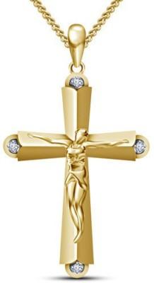 Devina Jewels Jesus Theme 14K Yellow Gold Diamond Sterling Silver Pendant
