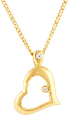 Fine Jewellers 10K Yellow Gold Cubic Zirconia Alloy Pendant Set