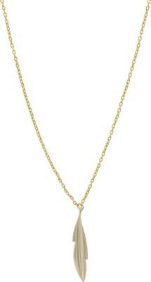Niara Leaf Shaped Pendent with Golden Chain Brass Locket