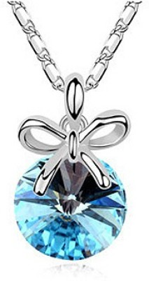 Silver Shoppee Knot of Love Rhodium Alloy Pendant