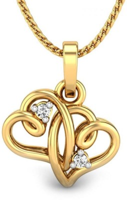 Candere Priyam 14kt Diamond Yellow Gold Pendant
