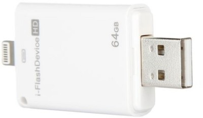 Gadget Bucket iFlash Device 64GB Memory Two way Storage Device 64 GB Pen Drive(Multicolor) at flipkart