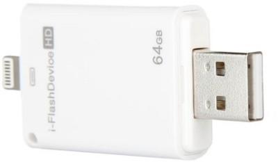 Gadget Bucket iFlash Device 64GB Memory Two way Storage Device 64 GB Pen Drive