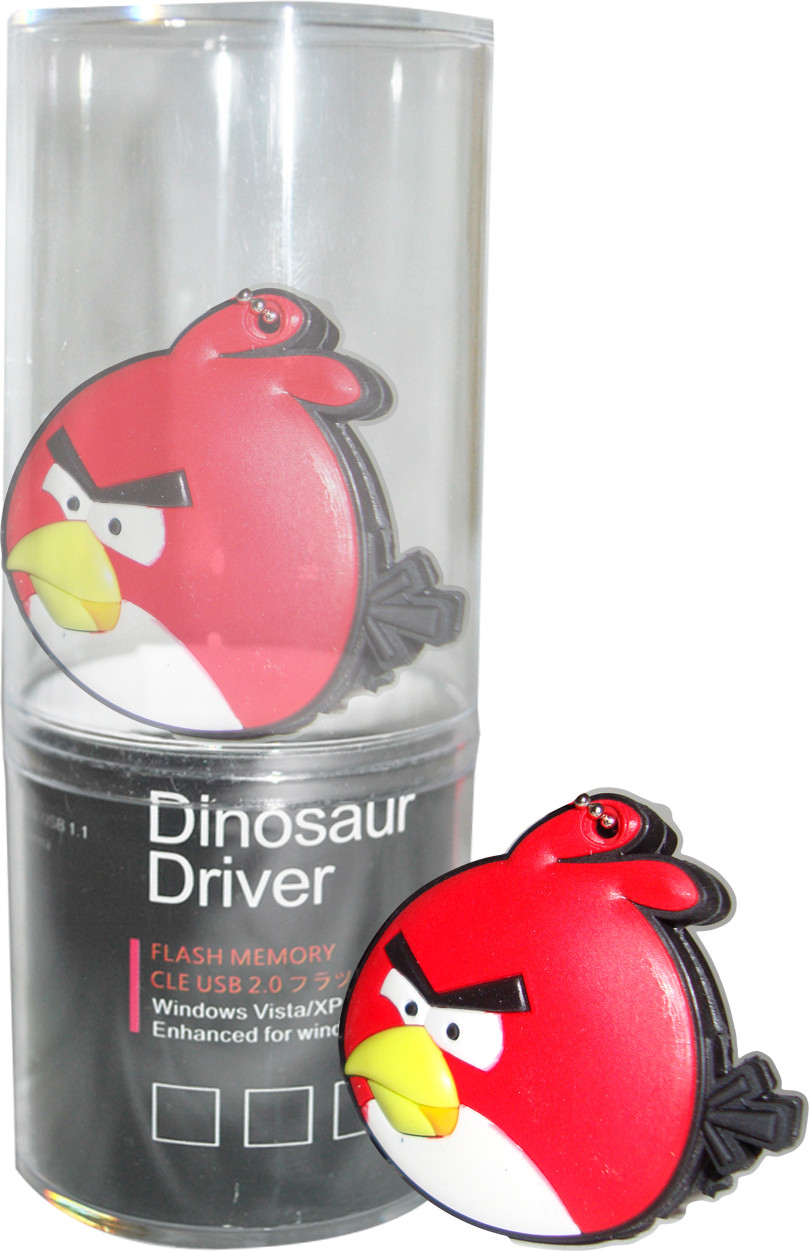View Dinosaur Drivers Red Angry Bird 8 GB Pen Drive(Multicolor) Price Online(Dinosaur Drivers)