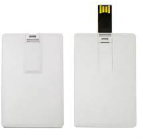 View BrandAxis BrandAxis Credit Card Pen Drive 4GB 4 GB Pen Drive(White) Price Online(BrandAxis)