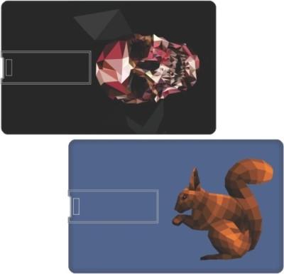 Printland Set of 2 Mixed Colors PC89712 8 GB  Pen Drive