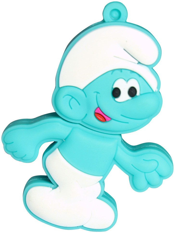 View Zeztee Green Smurf Cartoon Character 16 GB Pen Drive(Multicolor) Price Online(Zeztee)