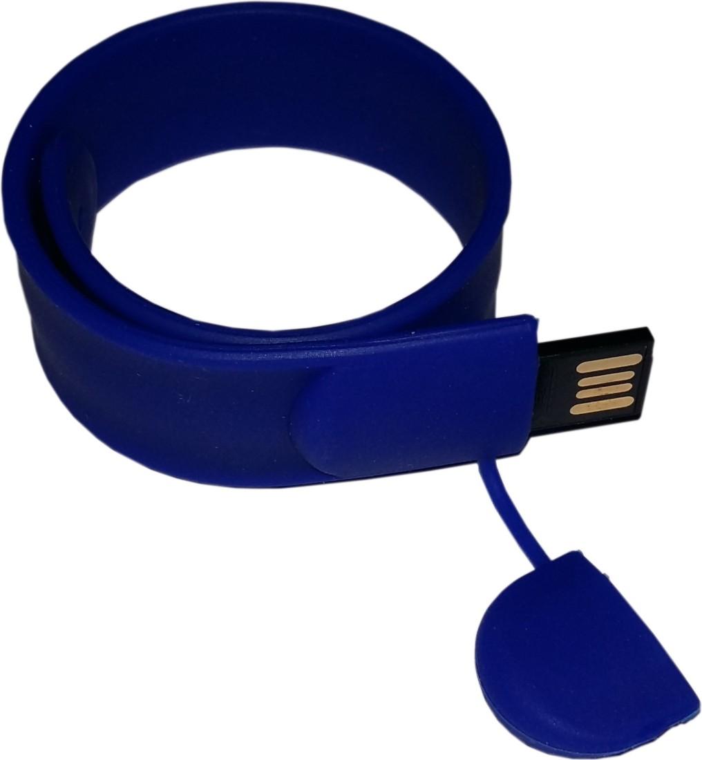 View Flipfit 100 % Original Highspeed SILICON STYLISH FASHION WRIST BANDD 8 GB Pen Drive(Blue) Price Online(Flipfit)