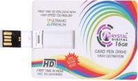 Crystal Digital Credit Card Shape 16 GB Pen Drive
