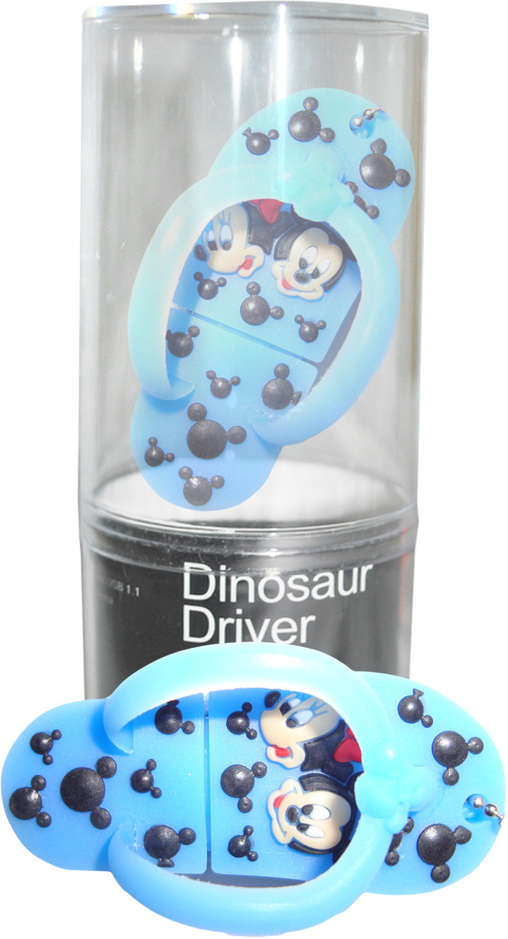 View Dinosaur Drivers Chappal Blue 16 GB Pen Drive(Multicolor) Price Online(Dinosaur Drivers)