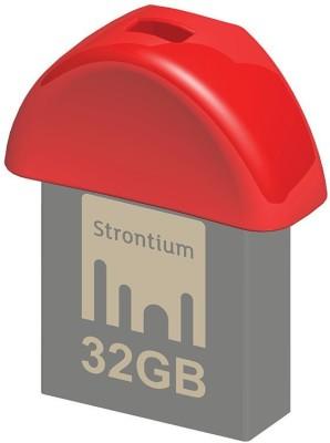 Strontium Nitro Plus Nano 32 GB Pen Drive(Red)