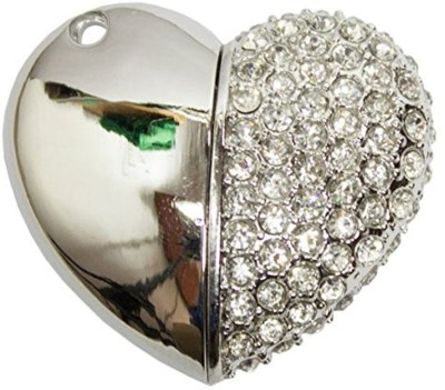 Zeztee Heart Shape Fancy Jewellery Style 16 GB Pen Drive