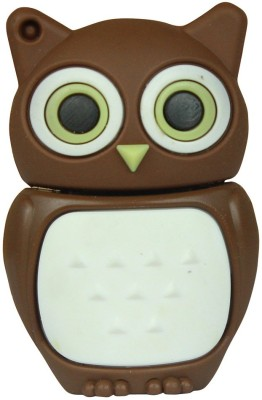 Zeztee Brown Owl Cartoon Character Shape 8 GB Pen Drive