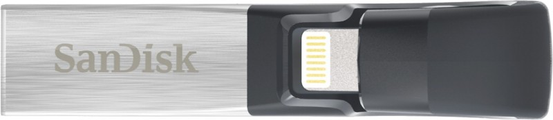 SanDisk iXpand Flash Drive 64 GB OTG Drive(Silver, Type A to Lightning)