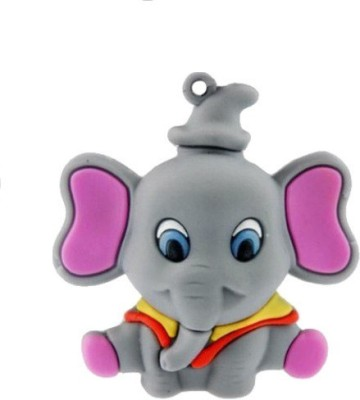 Quace Grey Elephant 16 GB Pen Drive