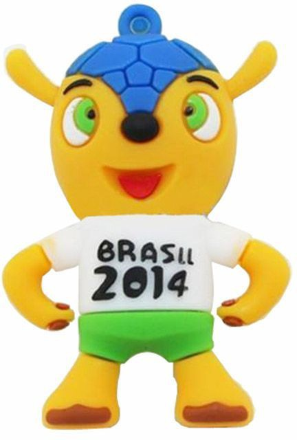 View HTH Brasil 2014 Shape 8 GB Pen Drive(Green)  Price Online