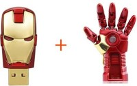 Sam Ironman Hand + Head 16 GB Pen Drive(Red, Gold)