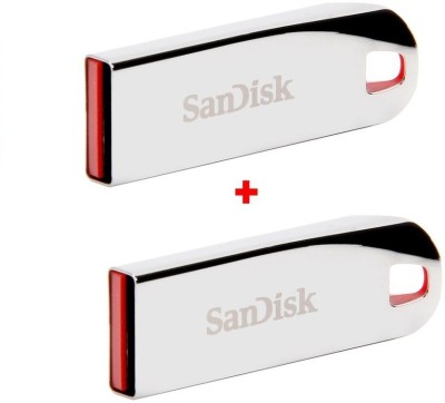 SanDisk CRUZER FORCE 8 GB Pen Drive(Silver)