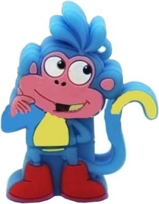 Microware Blue Monkey Shape 16 GB Pen Drive