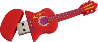 Microware Red Electric Guitar Shape 32 GB Pen Drive