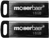 Moserbaer Atom Pack of 2 16 GB Pen Drive