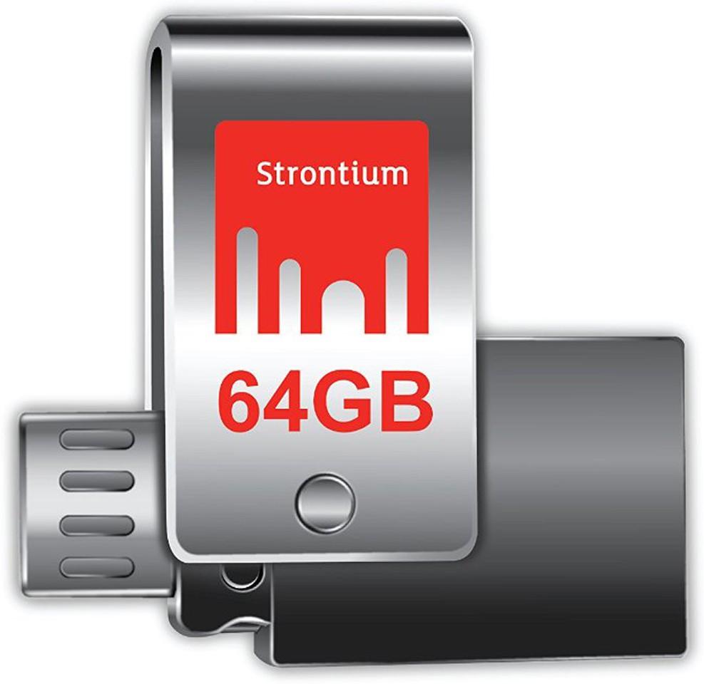 View Strontium Nitro Plus 64 GB Pen Drive(Silver) Price Online(Strontium)